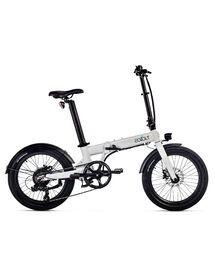 """Vélo Électrique Pliant Eovolt 20"""" Confort Blanc Nacré"""