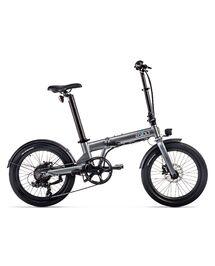 """Vélo Électrique Pliant Eovolt 20"""" Confort Gris Anthracite"""